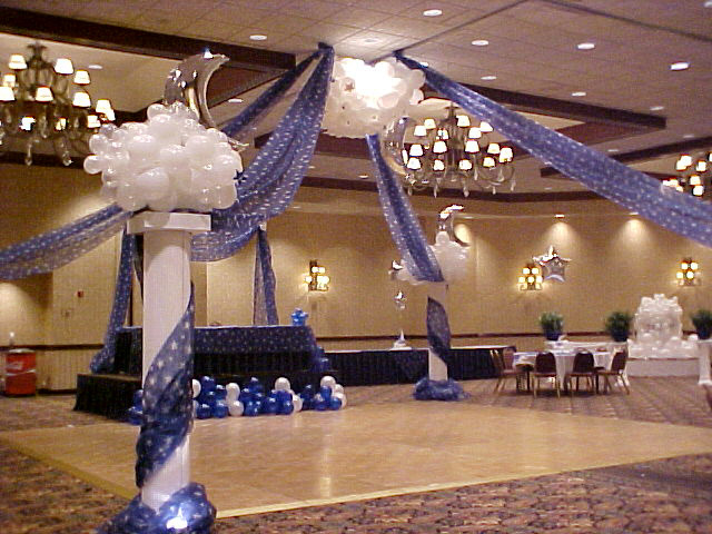 Atlanta party decorations for Balloon dance floor decoration
